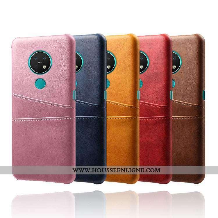 Étui Nokia 6.2 Personnalité Cuir Rose Petit Carte Incassable