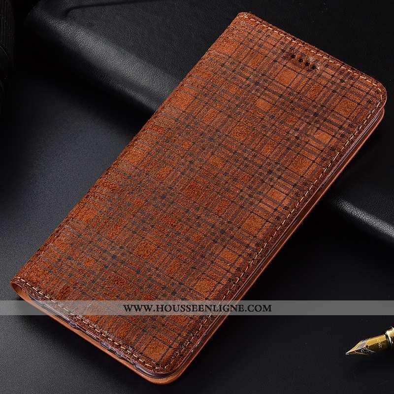 Étui Nokia 7.1 Cuir Véritable Protection Velours Incassable Marron Tout Compris