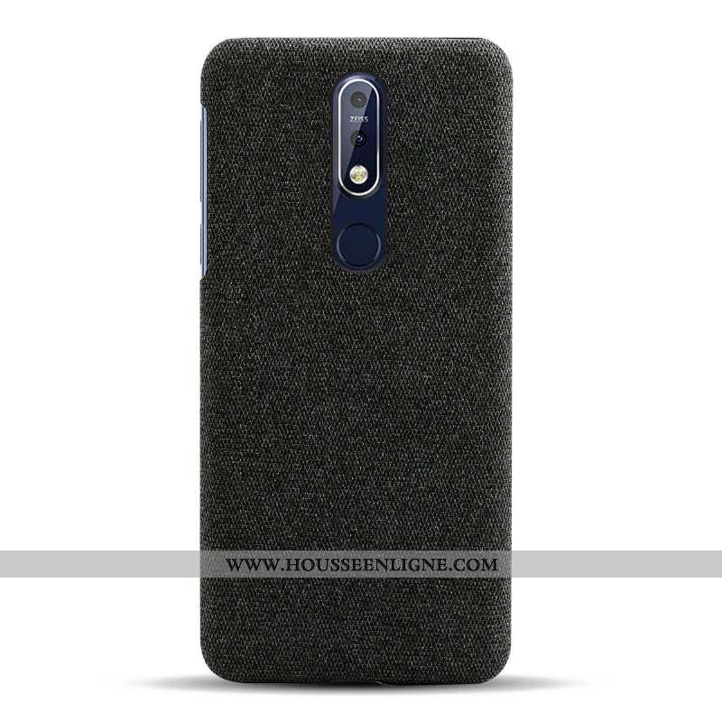 Étui Nokia 7.1 Légère Protection Tissu Noir Légères Téléphone Portable