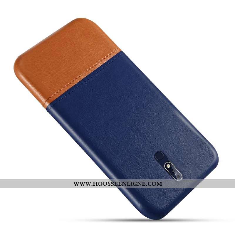 Étui Nokia 7.1 Personnalité Cuir Nouveau Coque Téléphone Portable Protection Bleu
