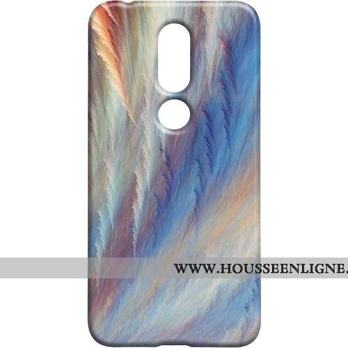 Étui Nokia 7.1 Protection Délavé En Daim Téléphone Portable Personnalité Difficile Multicolore Color