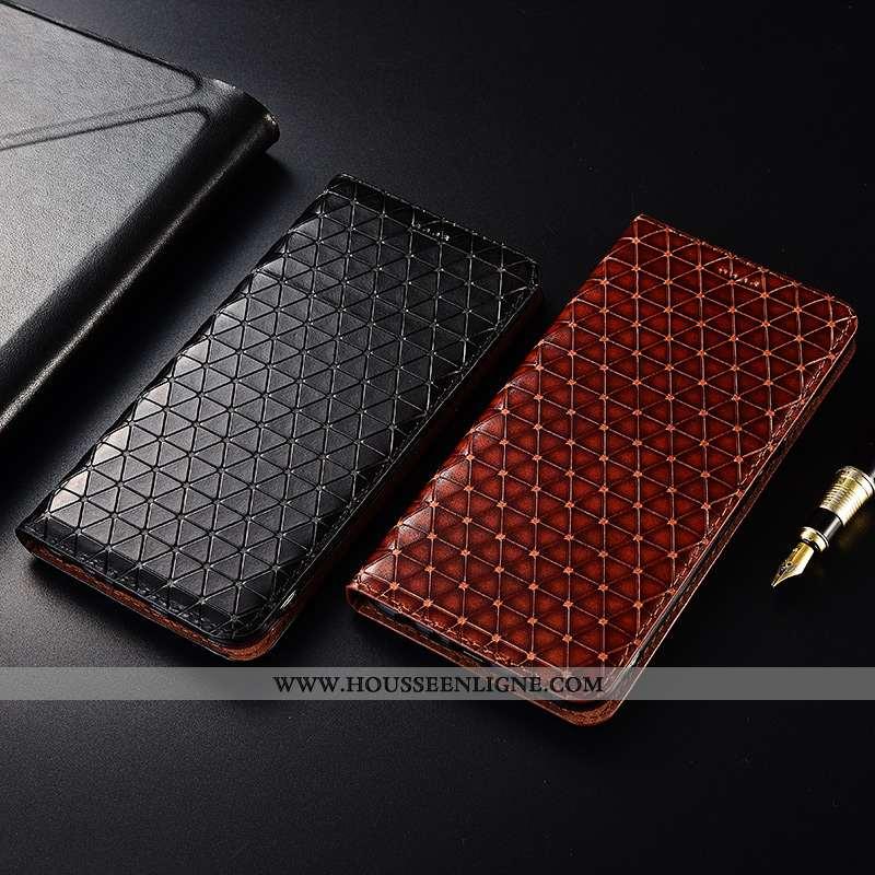 Étui Nokia 7.2 Fluide Doux Silicone Noir Incassable Téléphone Portable Plaid Protection
