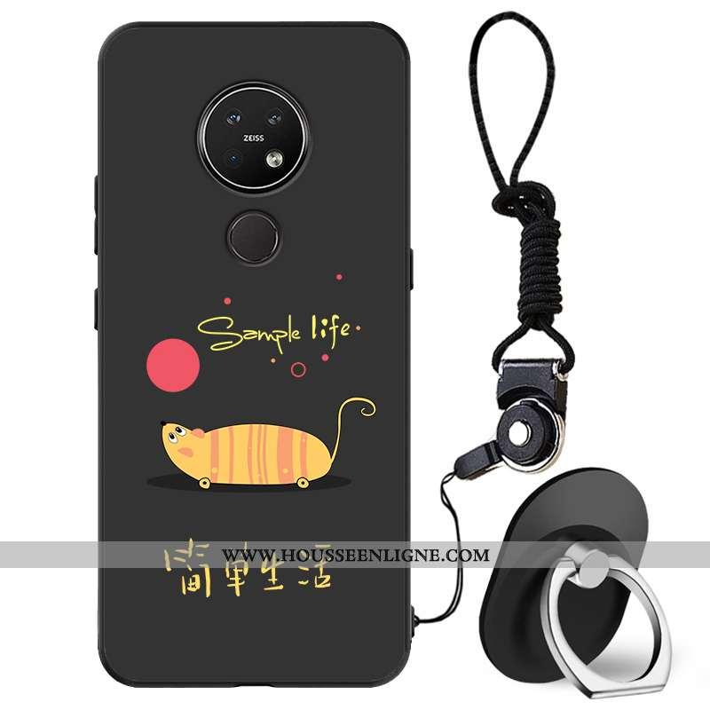Étui Nokia 7.2 Silicone Protection Tout Compris Téléphone Portable Incassable Coque Délavé En Daim N