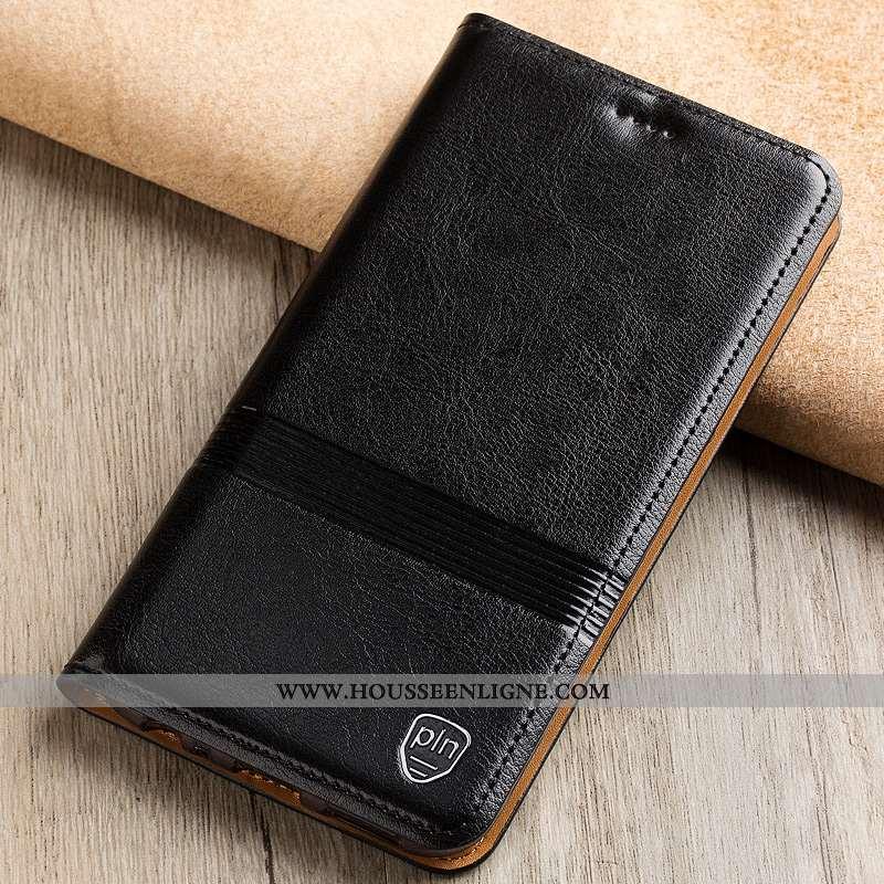 Étui Nokia 7 Plus Protection Cuir Véritable Téléphone Portable Incassable Tout Compris Coque Noir