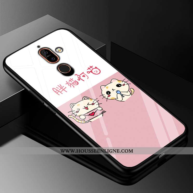 Étui Nokia 7 Plus Protection Verre Rose Difficile 2020 Coque