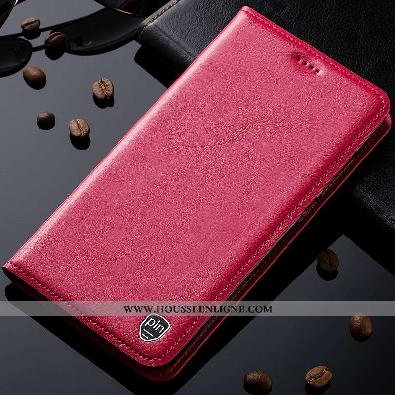 Étui Nokia 8 Sirocco Cuir Modèle Fleurie Protection Véritable Haute Rouge Téléphone Portable Rose