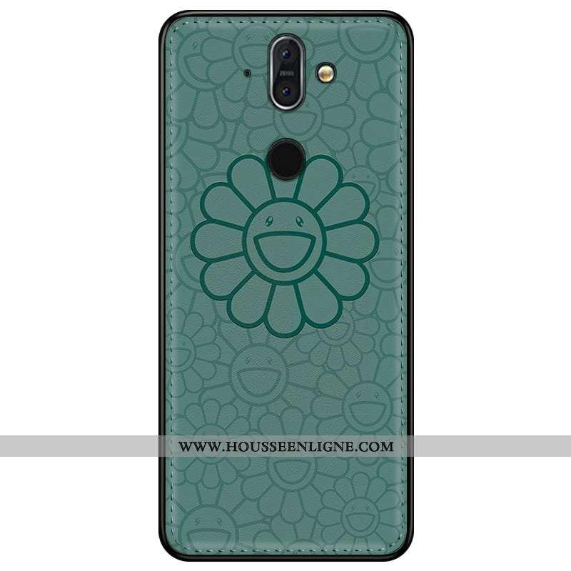 Étui Nokia 8 Sirocco Cuir Modèle Fleurie Tendance Protection 2020 Personnalisé Coque Verte