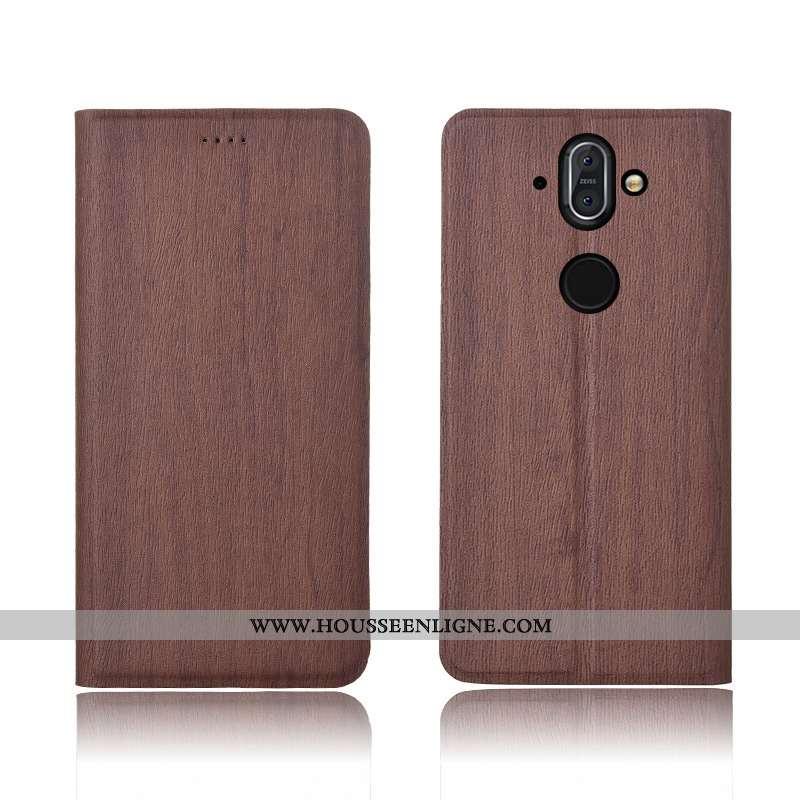 Étui Nokia 8 Sirocco Fluide Doux Silicone Protection Nouveau Incassable Housse Haute Marron
