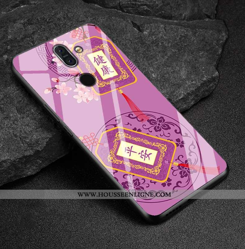 Étui Nokia 8 Sirocco Protection Verre Téléphone Portable Violet Coque