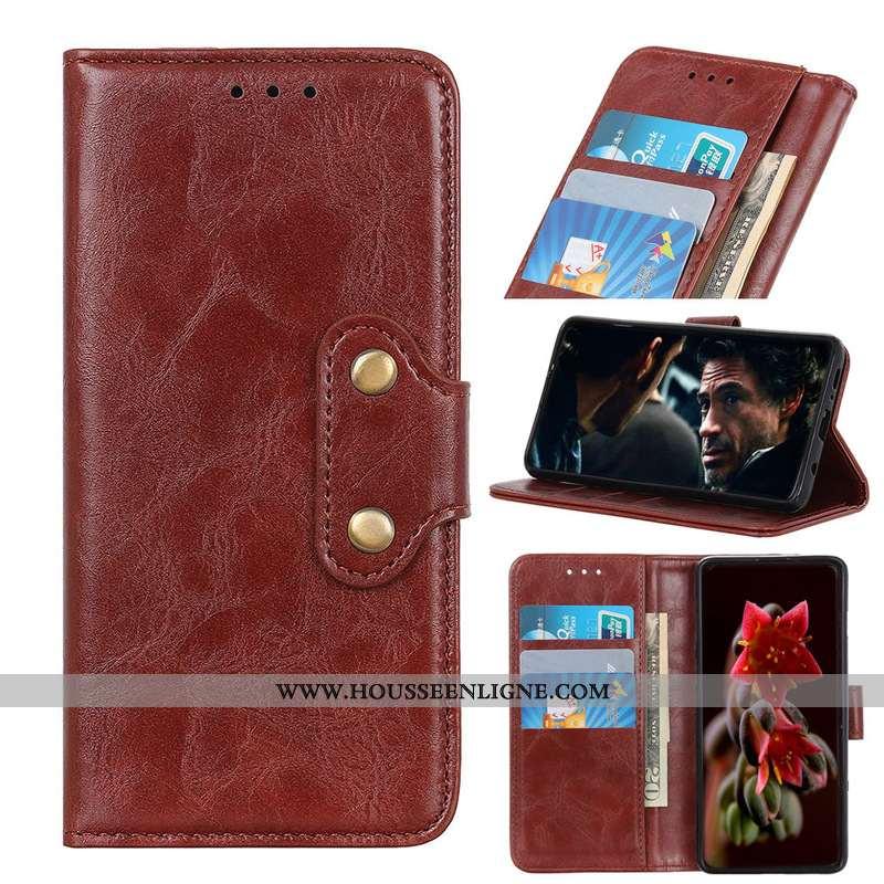 Étui Nokia 9 Pureview Modèle Fleurie Téléphone Portable Coque Une Agrafe Pu Marron