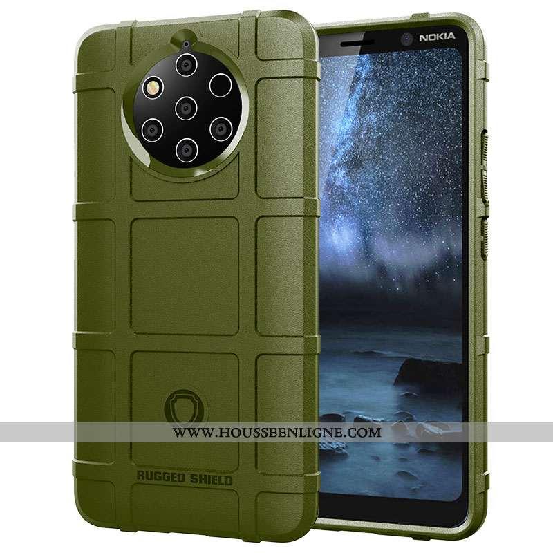 Étui Nokia 9 Pureview Protection Coque Vert Téléphone Portable Magnétisme Incassable Armée Verte