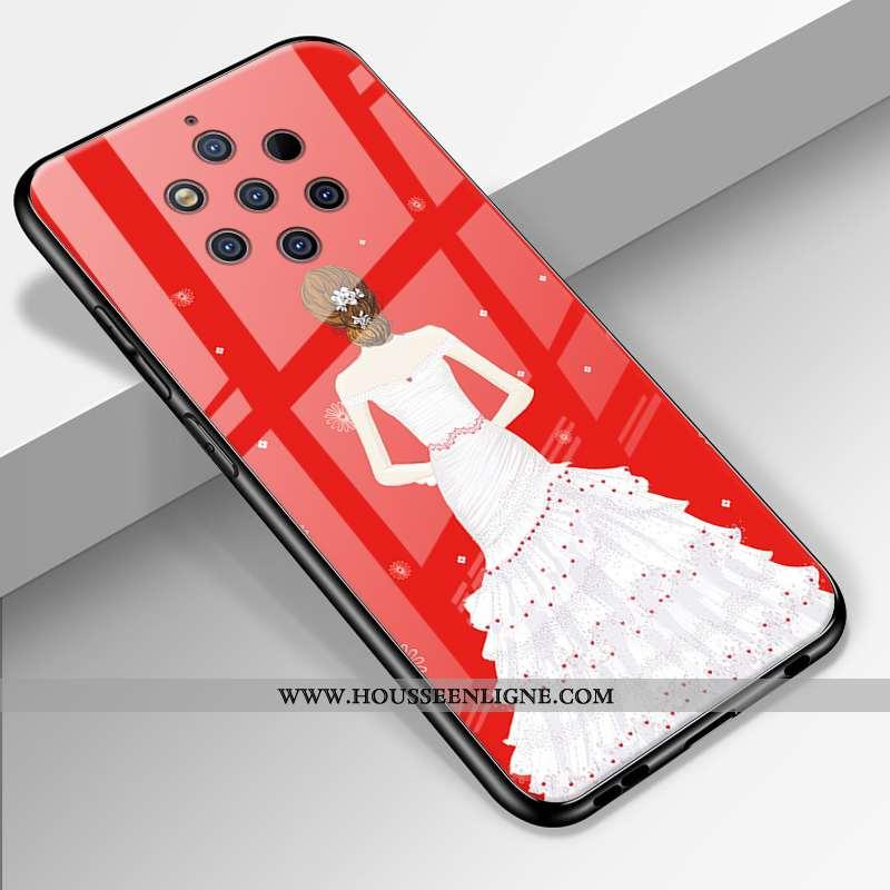 Étui Nokia 9 Pureview Tendance Silicone Amoureux Personnalité Incassable Coque Rouge