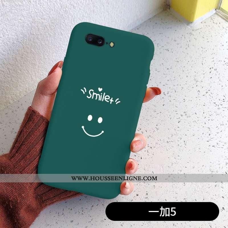 Étui Oneplus 5 Mode Protection Vert Coque Simple Incassable Silicone Verte