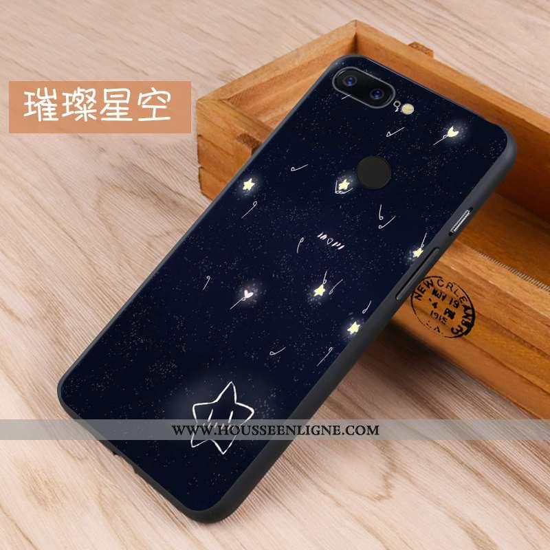 Étui Oneplus 5t Créatif Fluide Doux Incassable Protection Noir Téléphone Portable