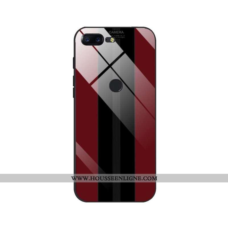 Étui Oneplus 5t Personnalité Créatif Miroir Incassable Coque Téléphone Portable Légère Rouge