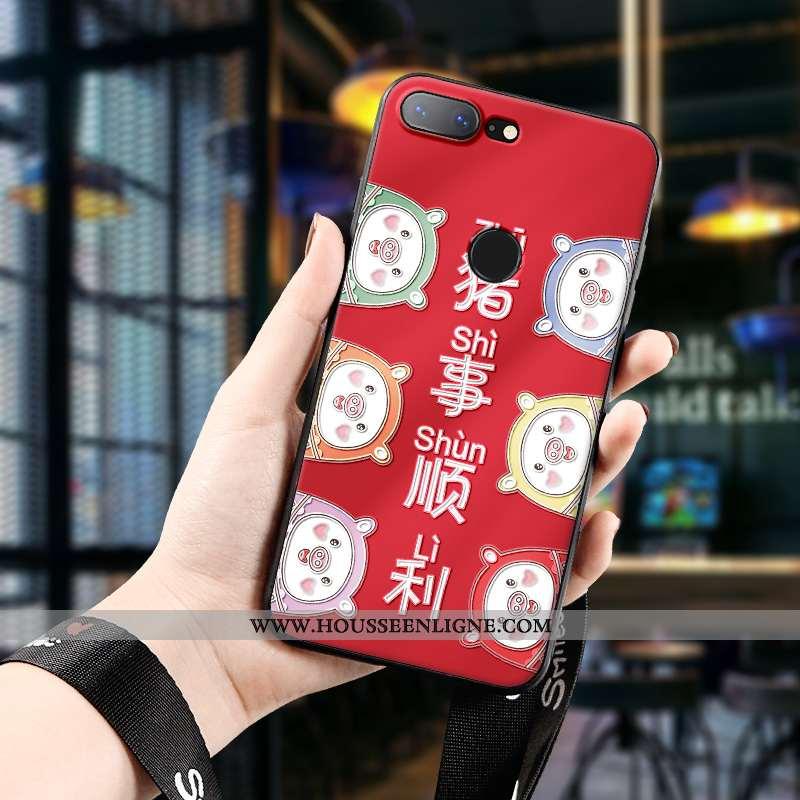 Étui Oneplus 5t Protection Délavé En Daim Dimensionnel Créatif Silicone Tout Compris Ultra Rouge