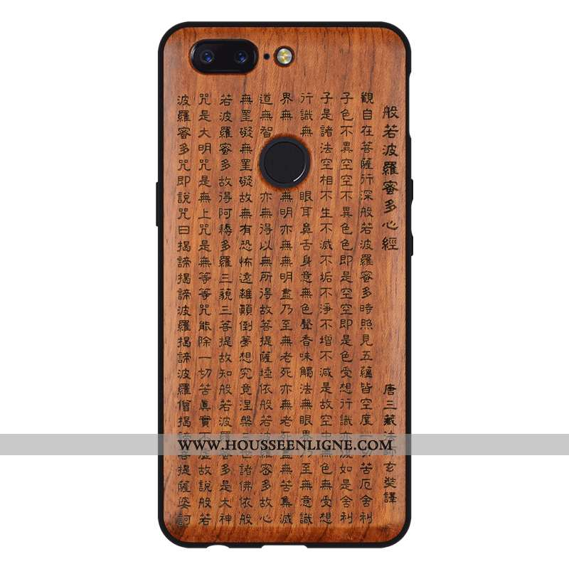 Étui Oneplus 5t Protection Personnalité En Bois Qualité Incassable Téléphone Portable Créatif Marron