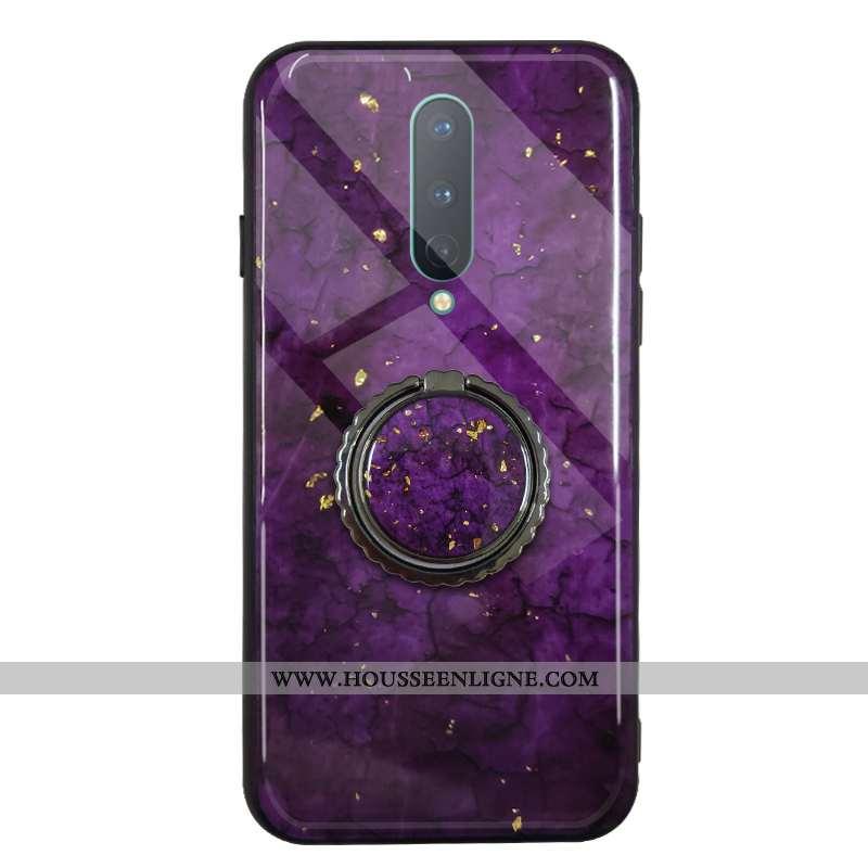 Étui Oneplus 7 Pro Luxe Fluide Doux Incassable Silicone Simple Rouge Violet