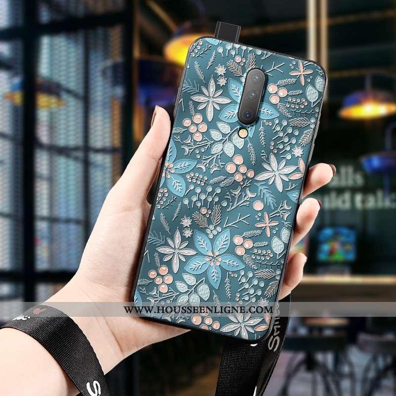 Étui Oneplus 7 Pro Protection Délavé En Daim Tout Compris Téléphone Portable Silicone Net Rouge Vert