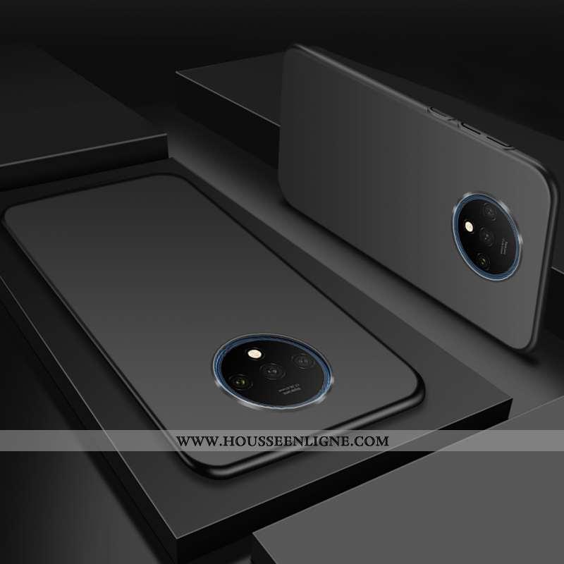 Étui Oneplus 7t Délavé En Daim Personnalité Magnétisme Téléphone Portable Difficile Légère Silicone