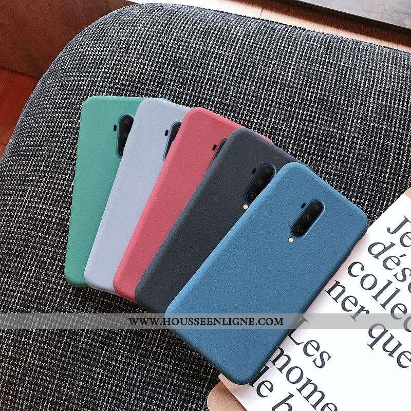 Étui Oneplus 7t Pro Modèle Fleurie Fluide Doux Téléphone Portable Tout Compris Incassable Gris