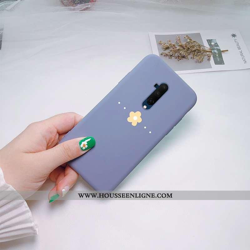 Étui Oneplus 7t Pro Personnalité Créatif Téléphone Portable Coque Silicone Charmant Net Rouge Bleu