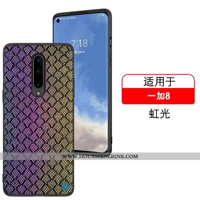 Étui Oneplus 8 Fluide Doux Coque Réfléchissant Nouveau Incassable Téléphone Portable Violet