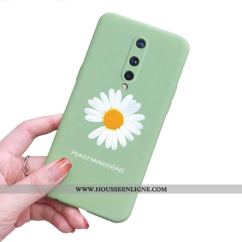 Étui Oneplus 8 Fluide Doux Silicone Incassable Vert Ultra Légère Tout Compris Verte