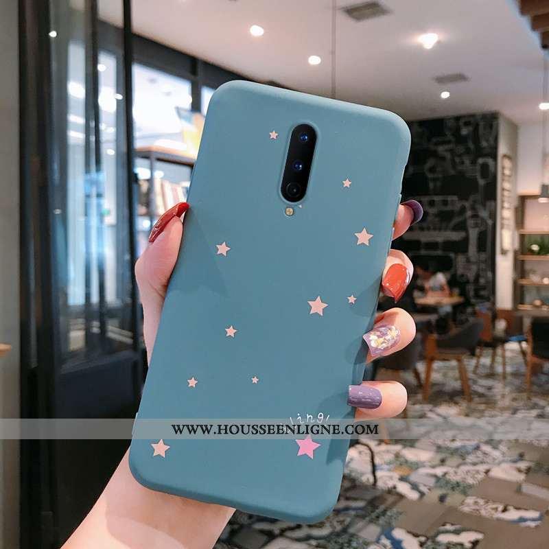 Étui Oneplus 8 Légère Fluide Doux Incassable Amoureux Personnalité Téléphone Portable Simple Bleu