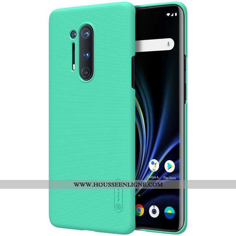 Étui Oneplus 8 Pro Délavé En Daim Protection Téléphone Portable Incassable Vert Difficile Tout Compr
