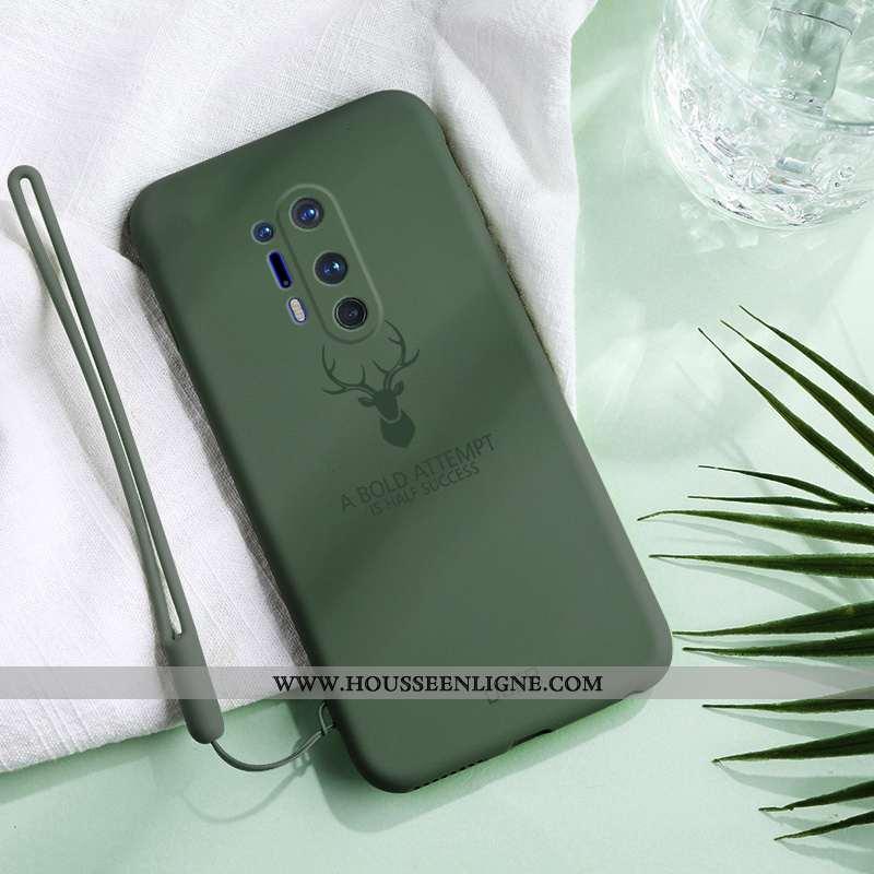 Étui Oneplus 8 Pro Légère Fluide Doux Légères Protection Silicone Incassable Personnalité Verte