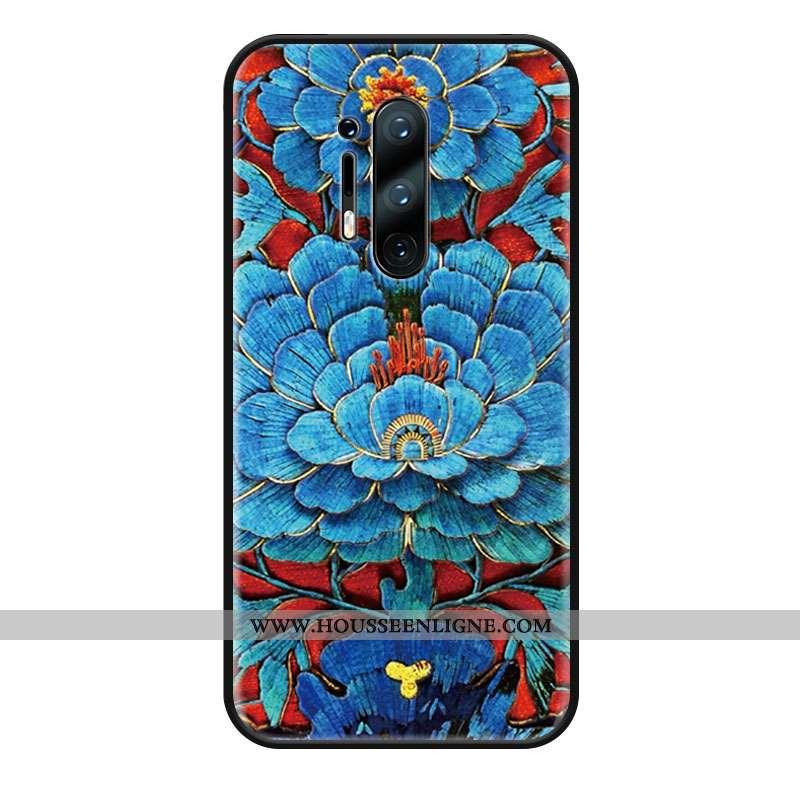 Étui Oneplus 8 Pro Ornements Suspendus Tendance Silicone Bleu Coque Téléphone Portable Protection