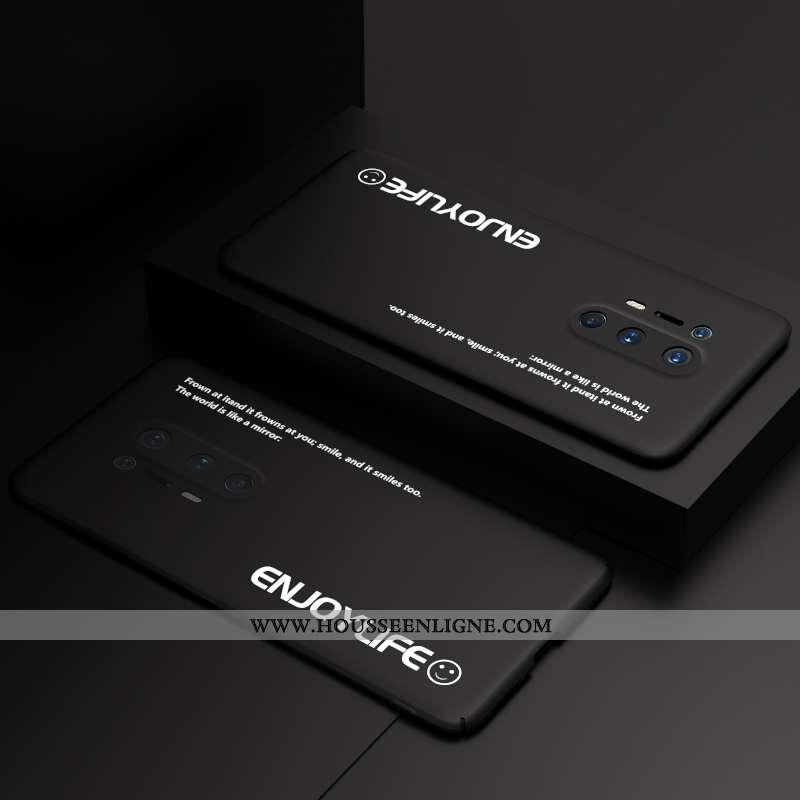 Étui Oneplus 8 Pro Personnalité Créatif Noir Incassable Coque Ultra Délavé En Daim