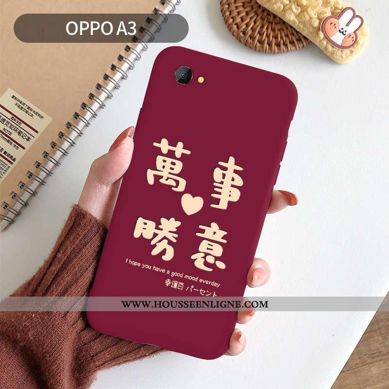Étui Oppo A3 Fluide Doux Silicone Rouge Téléphone Portable Créatif Nouveau