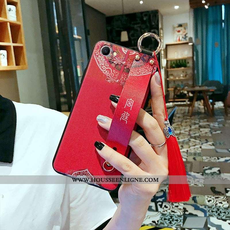 Étui Oppo A3 Protection Délavé En Daim Silicone Fluide Doux Créatif Tendance Style Chinois Rouge
