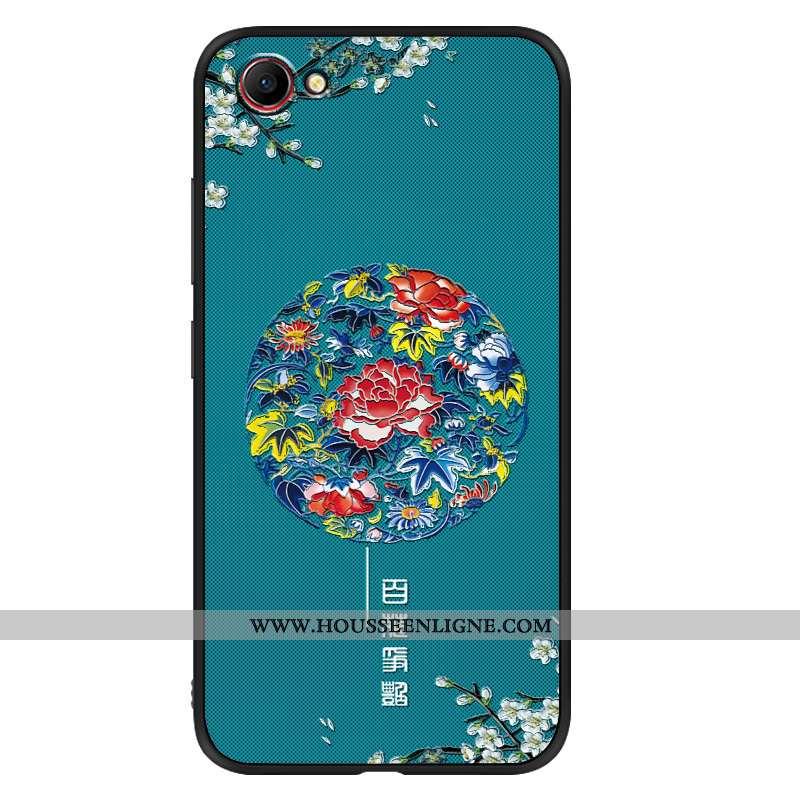 Étui Oppo A3 Tendance Fluide Doux Vent Silicone Téléphone Portable Mode Délavé En Daim Bleu