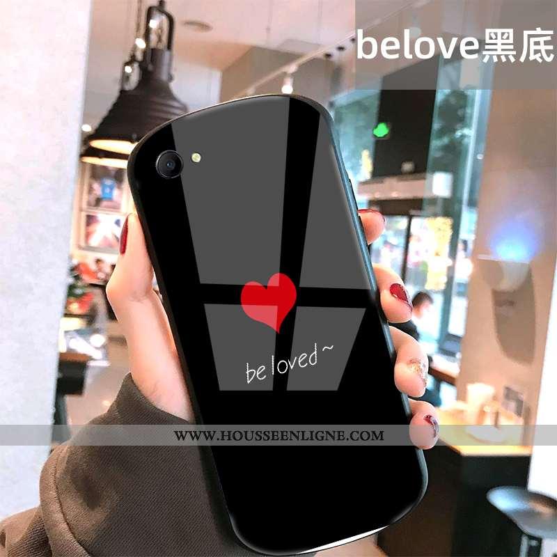 Étui Oppo A3 Tendance Protection Difficile Coque Souriant Rond Téléphone Portable Noir