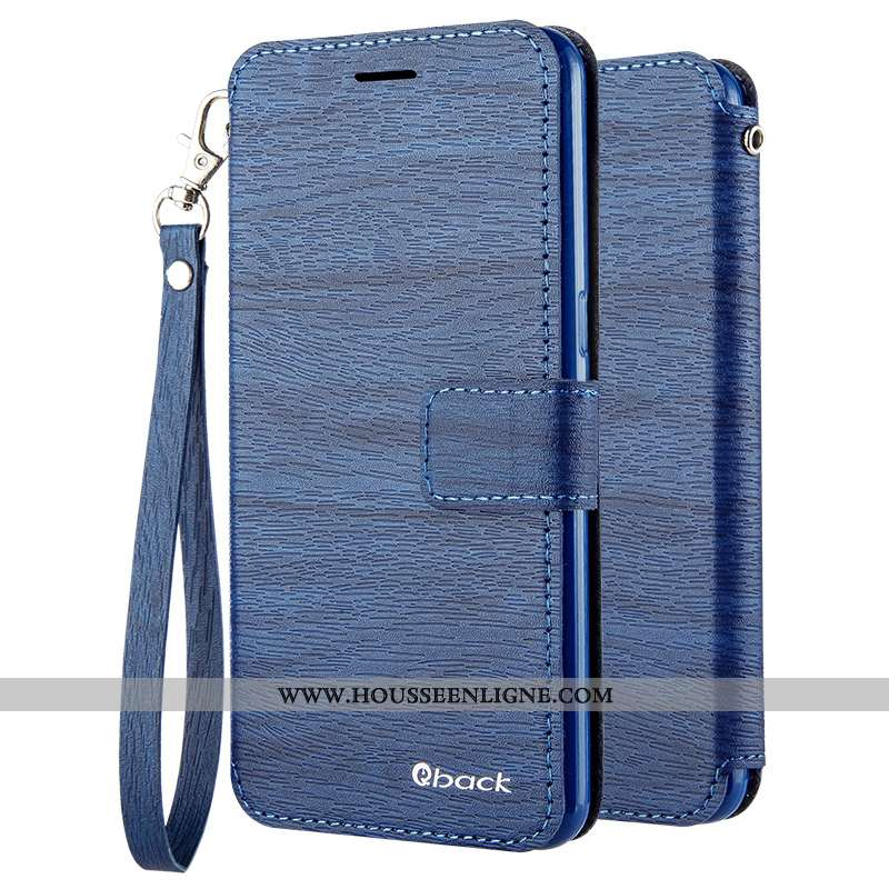 Étui Oppo A31 Cuir Silicone Incassable Protection Téléphone Portable Housse Coque Bleu