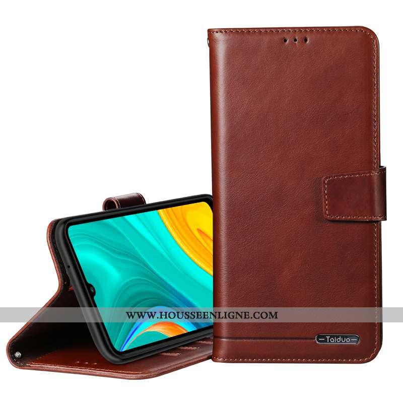 Étui Oppo A31 Portefeuille Cuir Coque Téléphone Portable Marron Protection Véritable