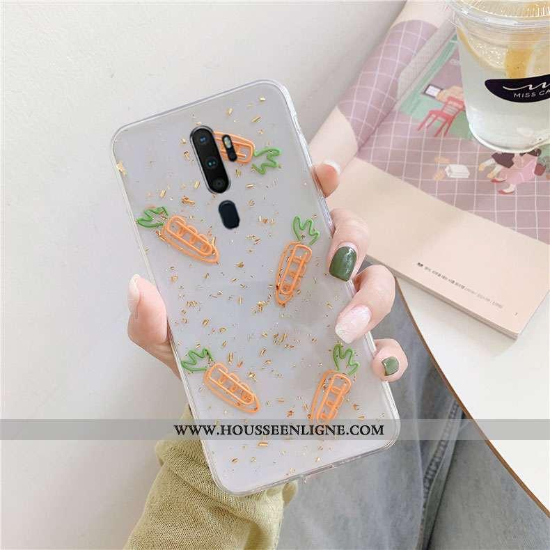 Étui Oppo A5 2020 Personnalité Créatif Blanc Simple Téléphone Portable Tendance Protection Blanche