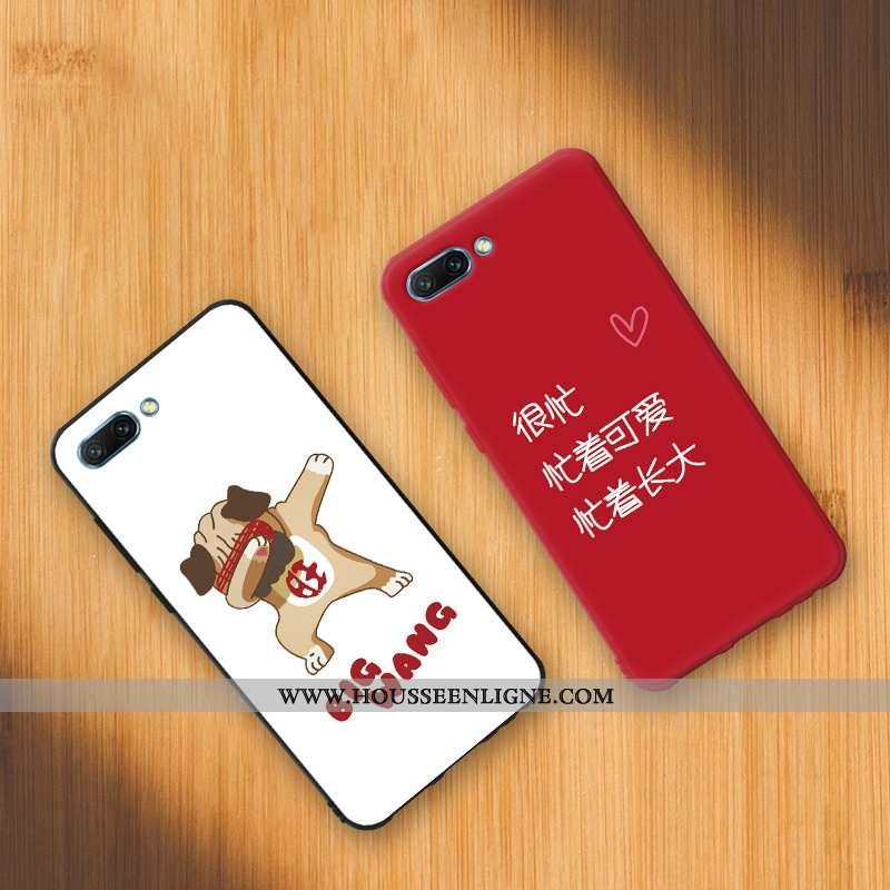 Étui Oppo A5 Personnalité Créatif Téléphone Portable Coque Fluide Doux Rouge Dessin Animé