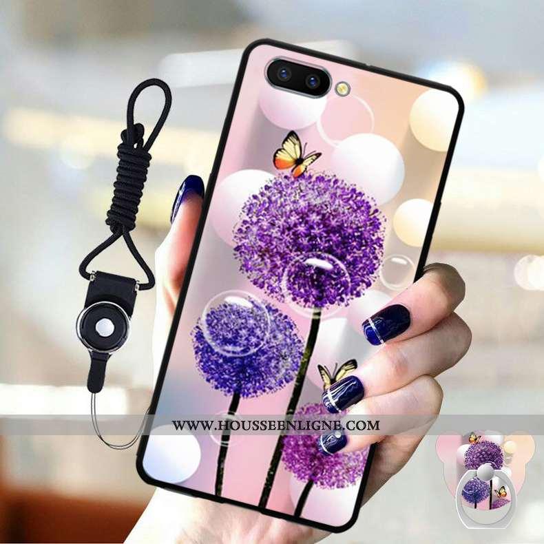 Étui Oppo A5 Protection Ornements Suspendus Silicone Téléphone Portable Coque Violet Fluide Doux