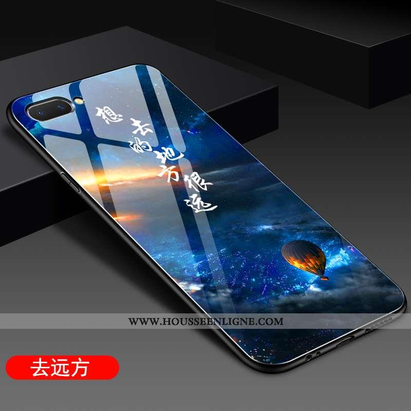 Étui Oppo A5 Protection Verre Silicone Incassable Coque Bleu