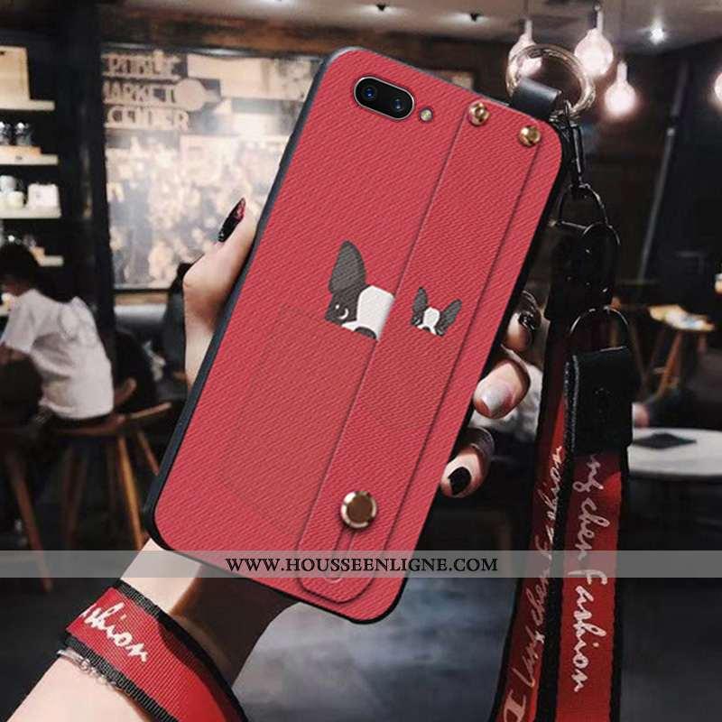 Étui Oppo A5 Silicone Ornements Suspendus Coque Téléphone Portable Rouge Charmant