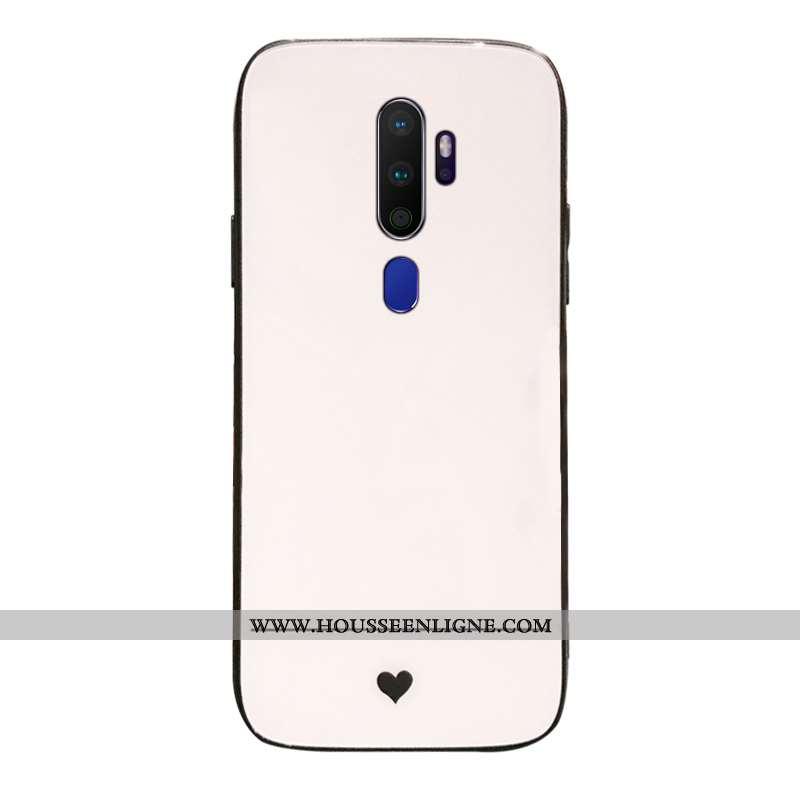 Étui Oppo A9 2020 Créatif Protection Support Blanc Téléphone Portable Net Rouge Blanche