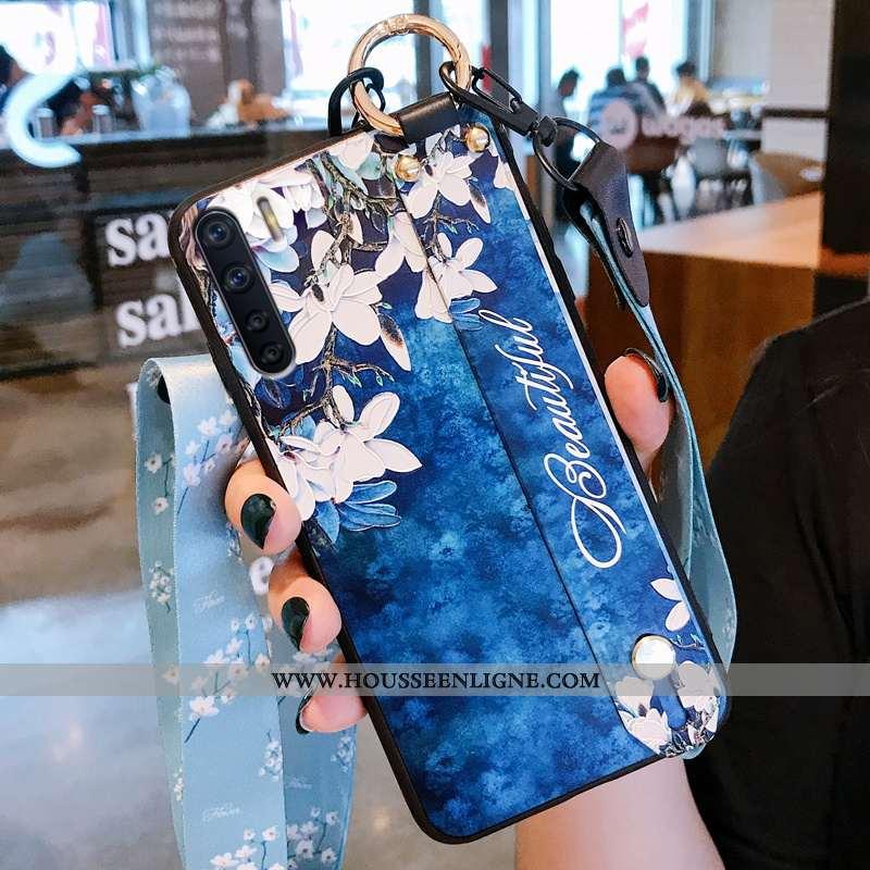Étui Oppo A91 Créatif Fluide Doux Téléphone Portable Incassable Bleu Silicone Amoureux
