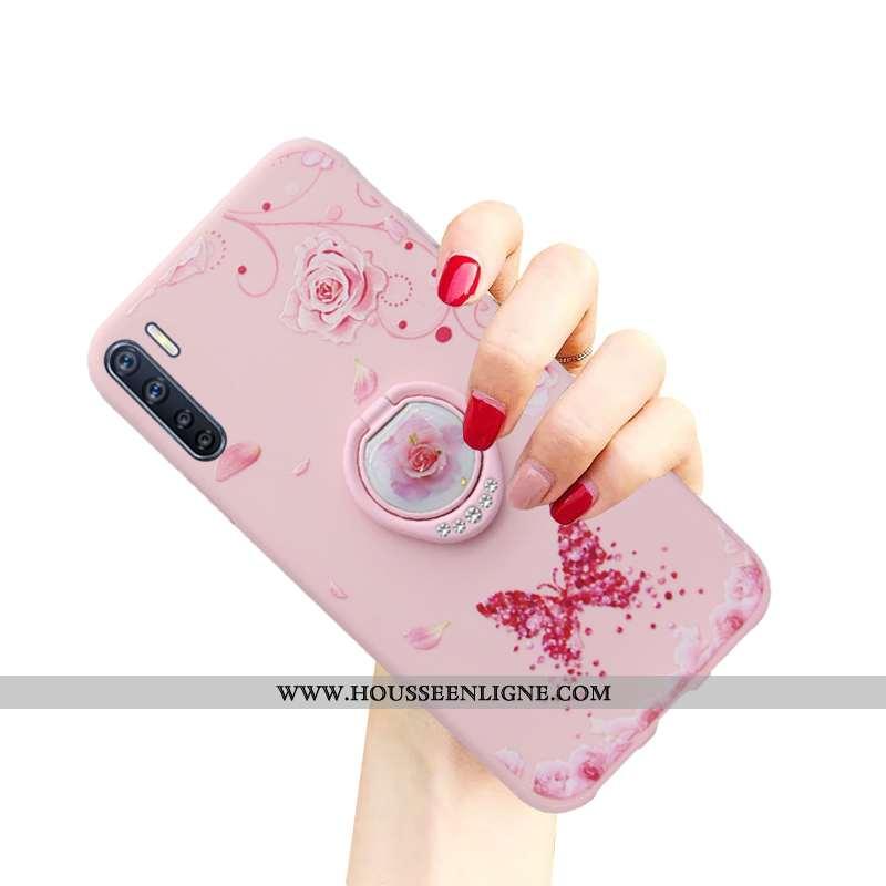 Étui Oppo A91 Créatif Tendance Incassable Téléphone Portable Coque Protection Rose