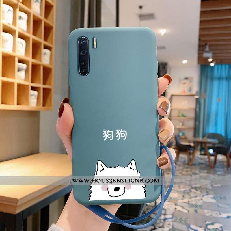 Étui Oppo A91 Dessin Animé Charmant Légère Téléphone Portable Tout Compris Incassable Amoureux Bleu
