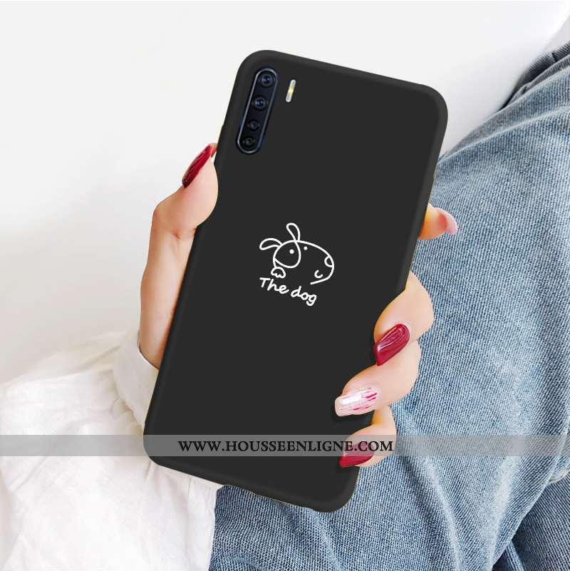 Étui Oppo A91 Fluide Doux Silicone Amoureux Petit Personnalité Net Rouge Noir