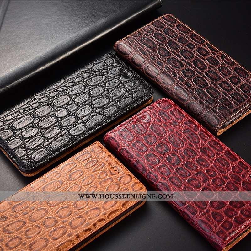Étui Oppo A91 Protection Cuir Véritable Incassable Tout Compris Marron Téléphone Portable Coque